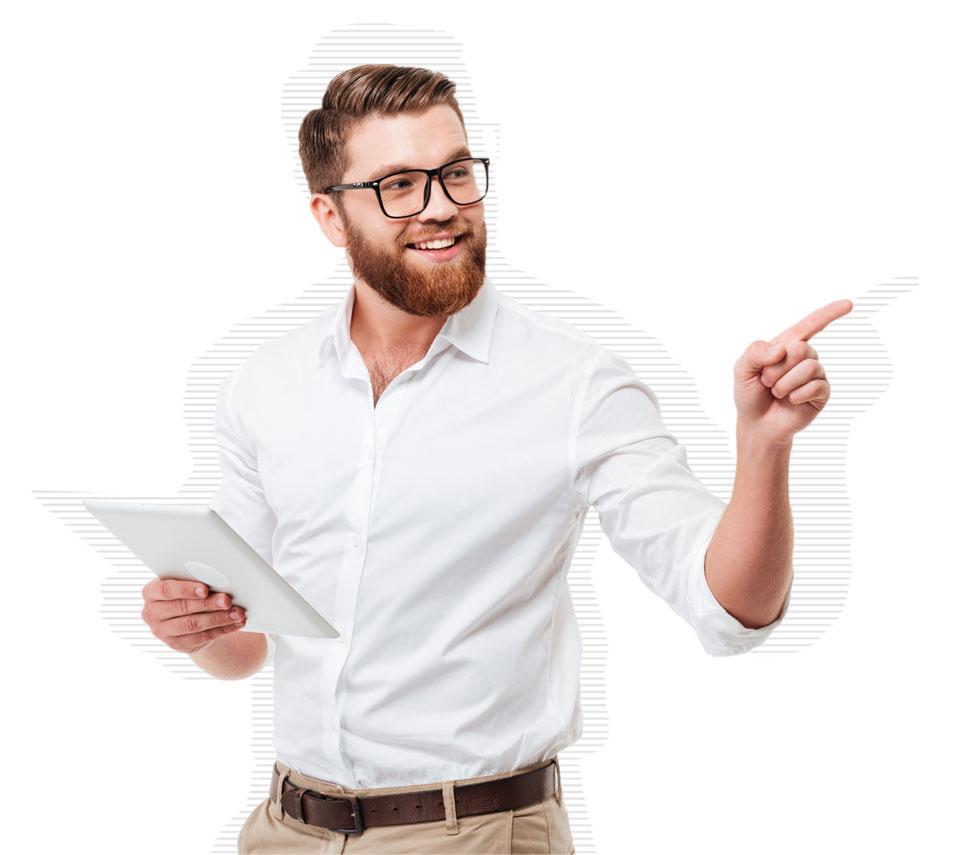 Mitarbeiter profitiert von Workflow-Management
