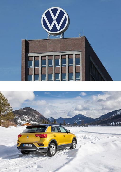 VW Gebäude und Pkw
