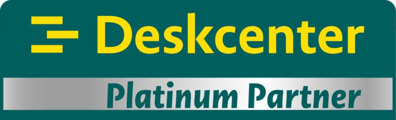 Deskcenter Premium-Partnerschaft Plakette