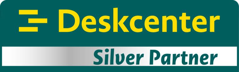 Deskcenter Silber Partnerplakette