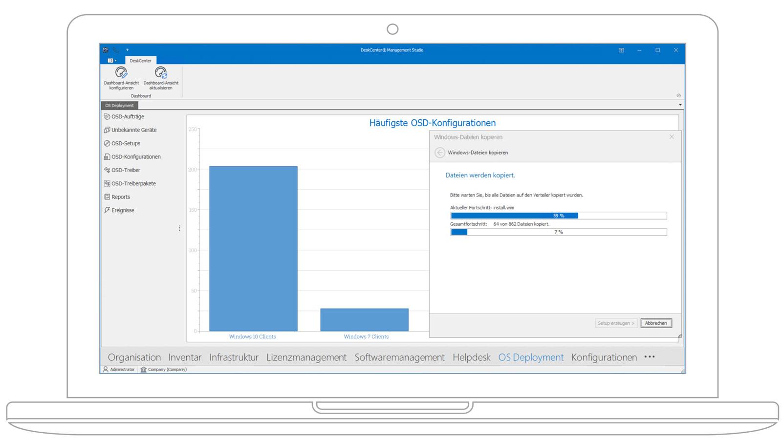 Screenshot OS-Deployment Deskcenter