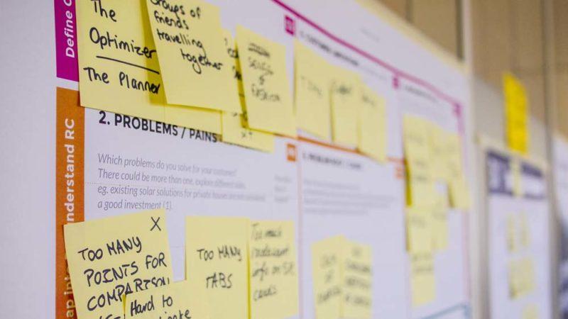 Organisation mit Whiteboard