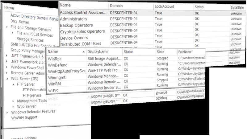 System informations with deskcenter management suite