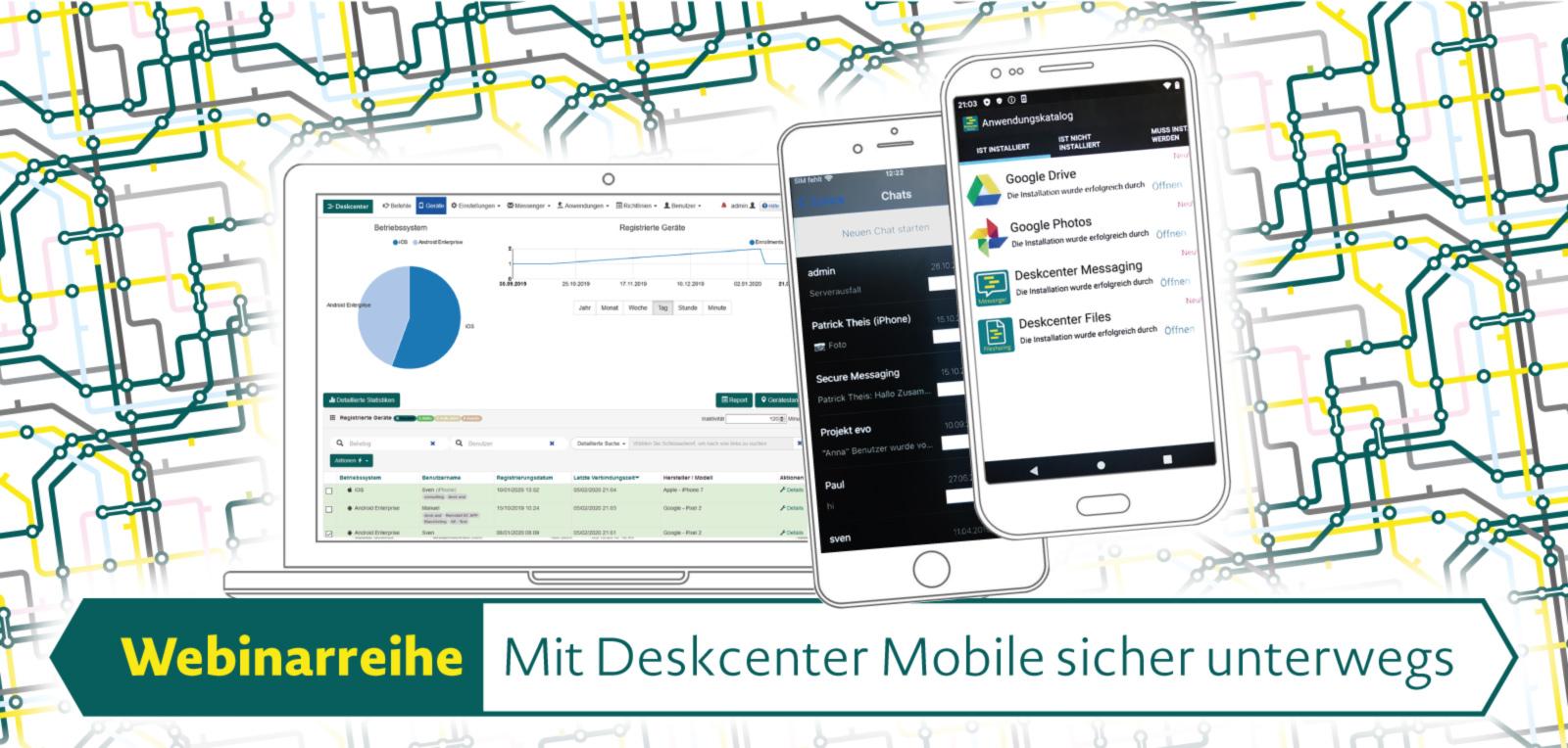 Mobile Endgeräte sicher verwalten mit Deskcenter